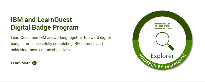IBM and LearnQuest Digital Badge Program